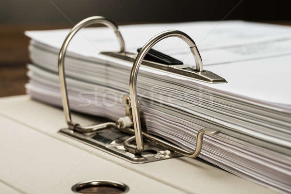 File Folder With Documents Stock photo © AndreyPopov