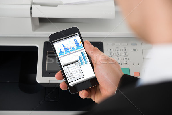 Zakenman print commando afbeelding kantoor Stockfoto © AndreyPopov