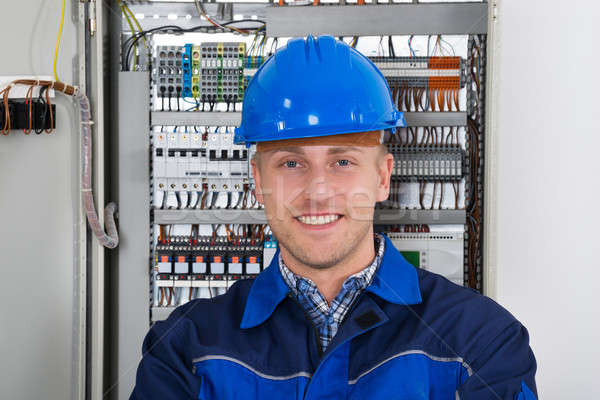 Portrait Of A Happy Young Male Electrician Stock photo © AndreyPopov