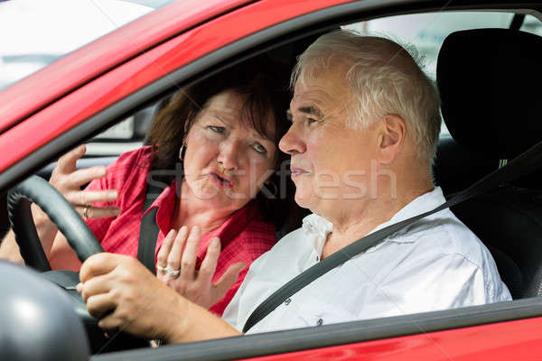 Couple Arguing In A Car Stock photo © AndreyPopov