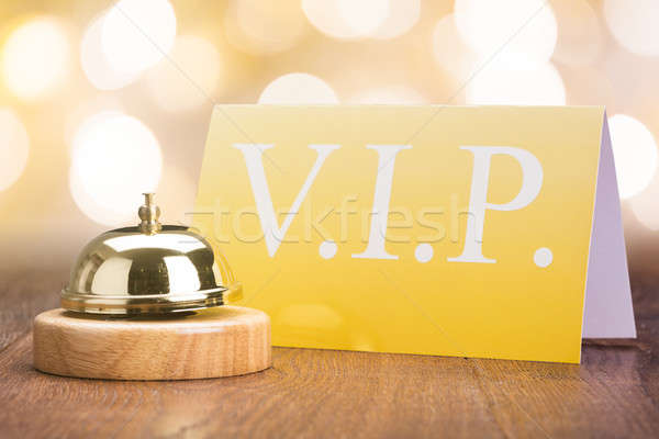 Service Bell With Vip Card In Hotel Stock photo © AndreyPopov