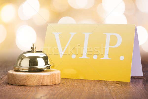 サービス 鐘 vip カード ホテル クローズアップ ストックフォト © AndreyPopov