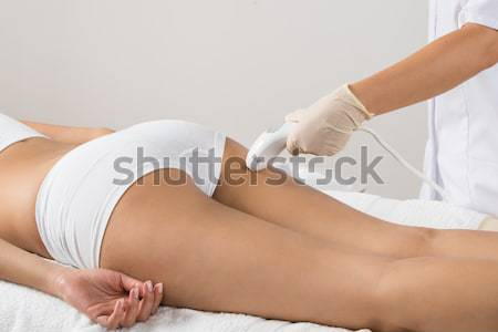 Stock photo: Woman Receiving Laser Epilation Treatment On Legs
