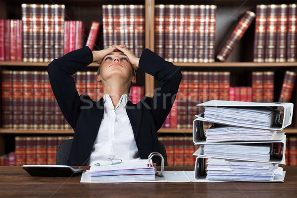 Stressed Female Accountant Stock photo © AndreyPopov
