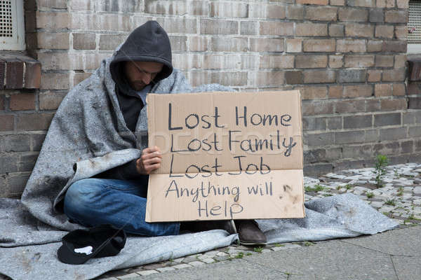 Homeless Man Asking Help On Street Stock photo © AndreyPopov
