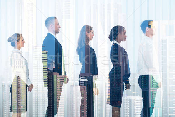 Business People Standing In Row Stock photo © AndreyPopov