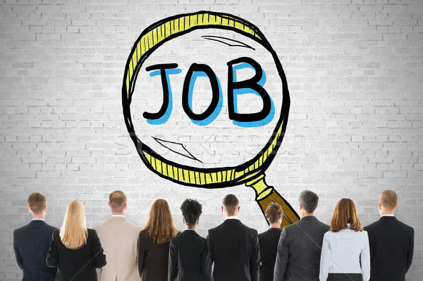 Job Search And Hiring Concept On Wall Stock photo © AndreyPopov