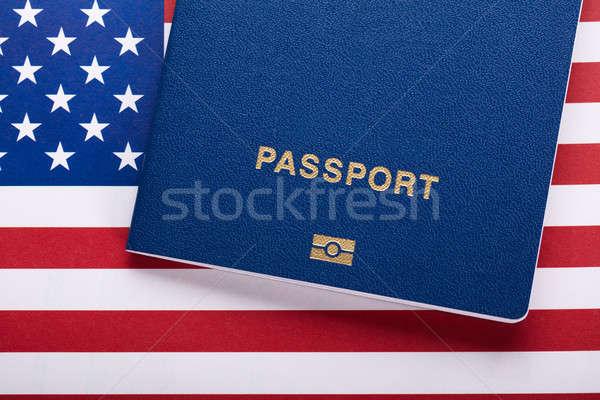 паспорта американский флаг мнение путешествия штампа Сток-фото © AndreyPopov