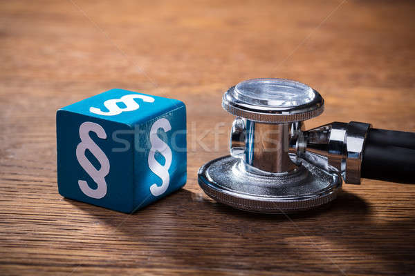 Blue Paragraph Block And Stethoscope Stock photo © AndreyPopov