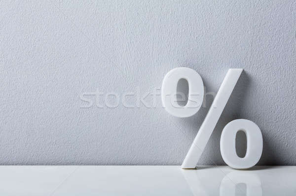 Close-up Of A Percentage Sign Stock photo © AndreyPopov