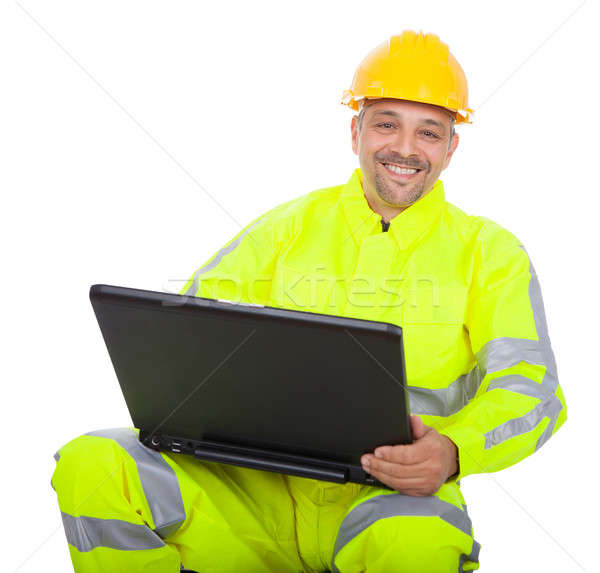 Portrait of worker in safety jacket Stock photo © AndreyPopov
