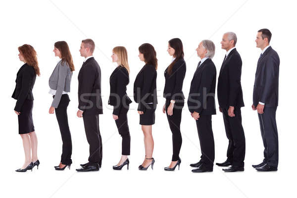 Line of business people in profile Stock photo © AndreyPopov
