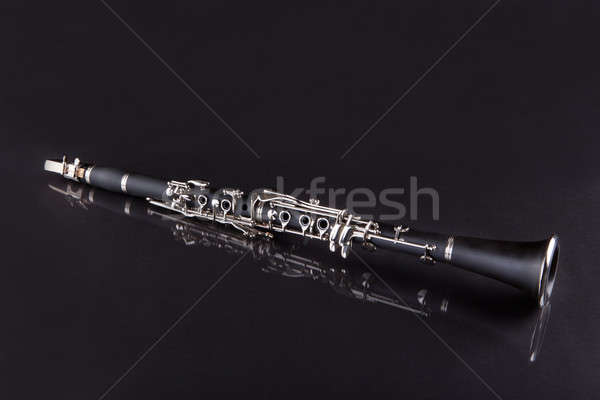 Stock photo: Close-up Of Clarinet Isolated On Black Background