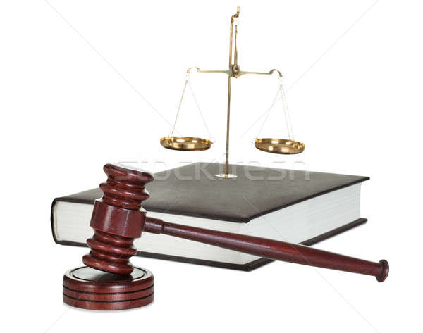 Judge gavel and law book Stock photo © AndreyPopov