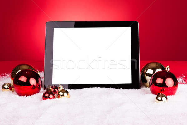 Stok fotoğraf: Dijital · tablet · Noel · iş · dizüstü · bilgisayar · hareketli