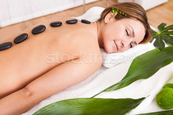 Young Woman Relaxing In Spa Stock photo © AndreyPopov
