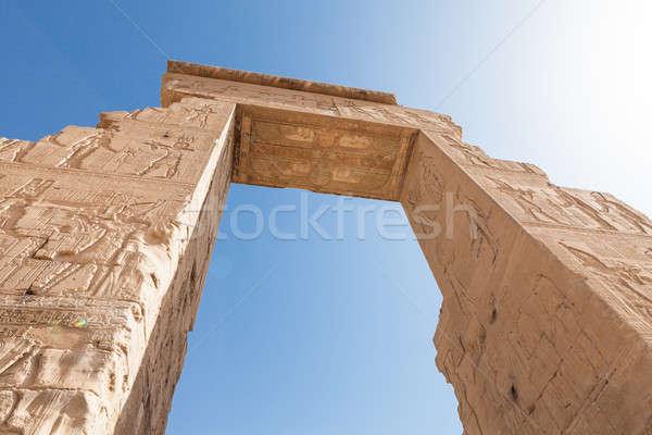 Entrance Of Dendera Temple Stock photo © AndreyPopov