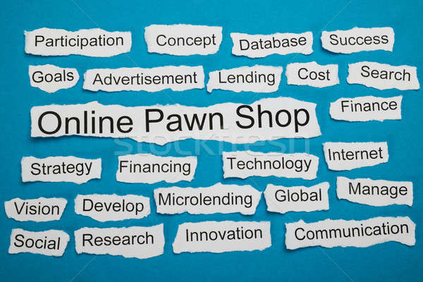 Online Pawn Shop Text On Piece Of Torn Paper Stock photo © AndreyPopov