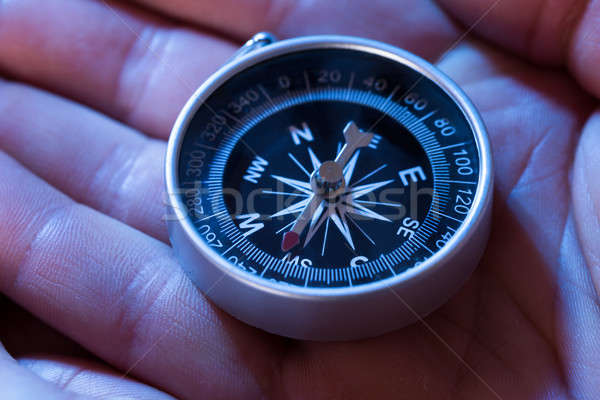 Compass In Hand Stock photo © AndreyPopov