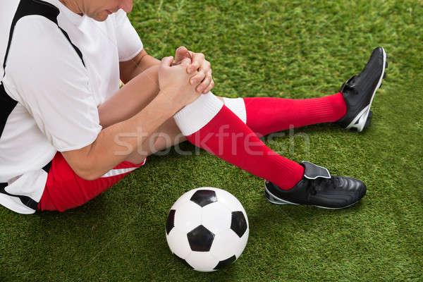 Futbolcu diz hasar erkek alan Stok fotoğraf © AndreyPopov