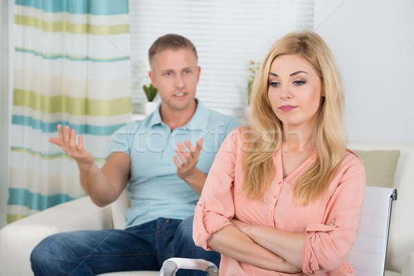 Casal argumento casa foto mulheres Foto stock © AndreyPopov