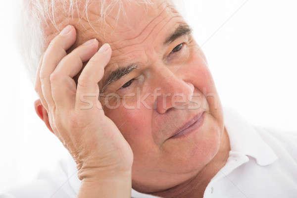Contemplated Senior Man Stock photo © AndreyPopov
