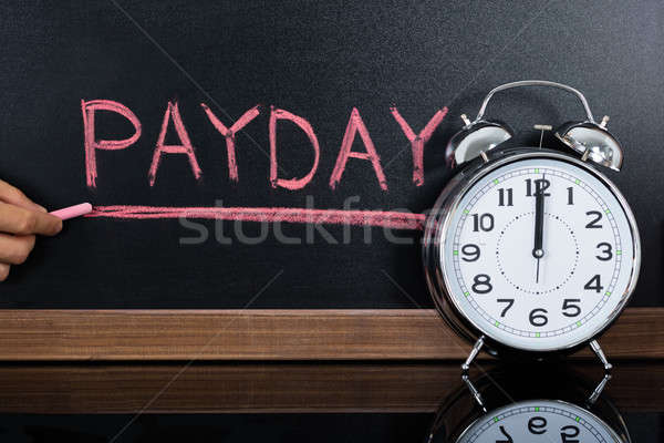 Payday Concept Written On Blackboard Stock photo © AndreyPopov