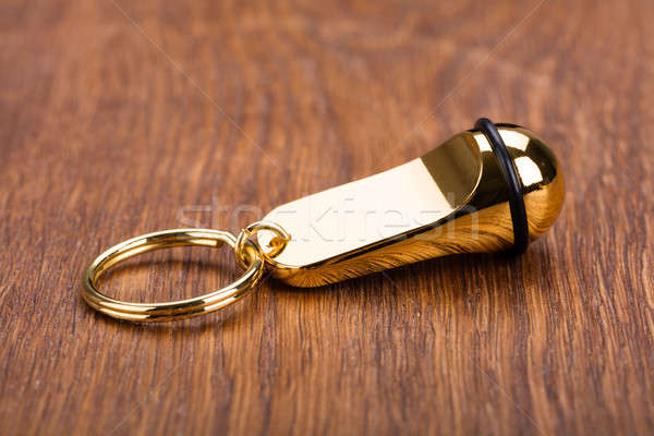 Keychain On Wooden Desk Stock photo © AndreyPopov