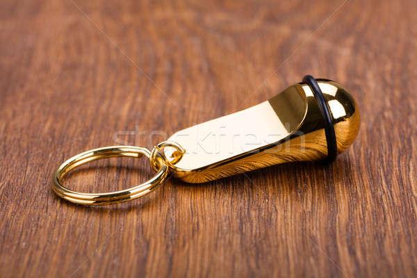 Stock photo: Keychain On Wooden Desk