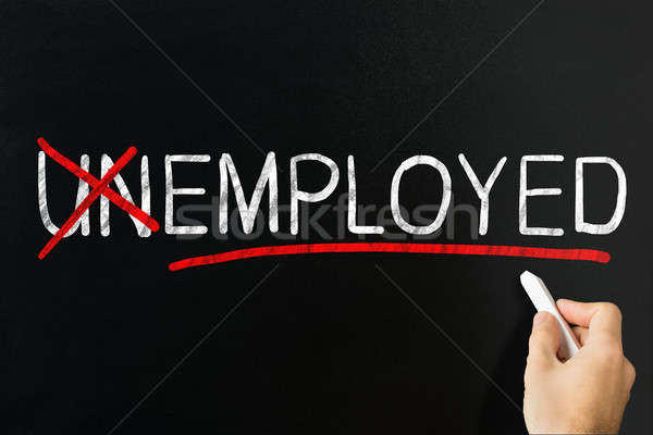 Changing Word Unemployed Into Employed Stock photo © AndreyPopov