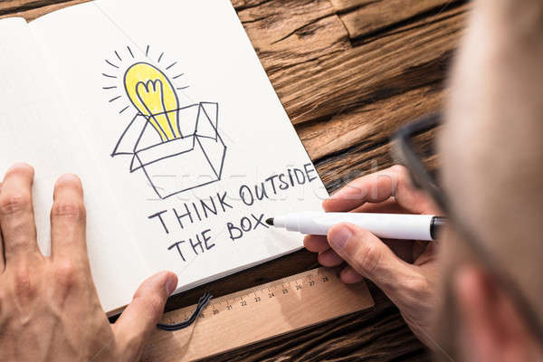 Think Outside The Box Concept Stock photo © AndreyPopov