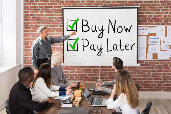Buy Now Pay Later Concept Presentation Stock photo © AndreyPopov