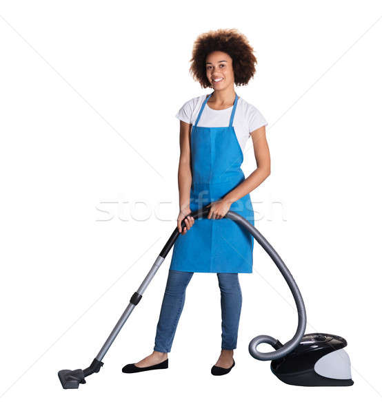Portrait Of A Janitor With Vacuum Cleaner Stock photo © AndreyPopov
