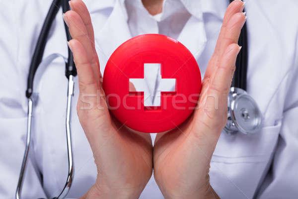 Medico pronto soccorso segno primo piano medici Foto d'archivio © AndreyPopov