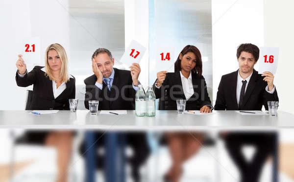 Panneau mauvais score signes groupe Photo stock © AndreyPopov