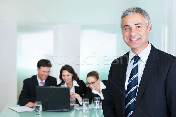Corporate promotion and leadership Stock photo © AndreyPopov