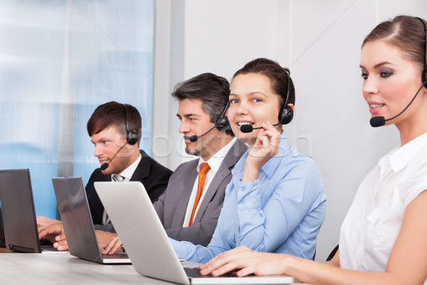 Call center operator Stock photo © AndreyPopov