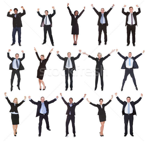 Group Of Business People Raising Arms Stock photo © AndreyPopov