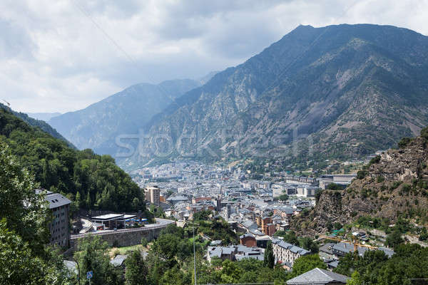 Ansicht Andorra Panorama Luftbild Gras Stock foto © AndreyPopov