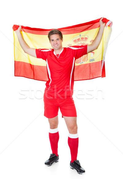 スペイン国旗 白 サッカー スポーツ ストックフォト © AndreyPopov