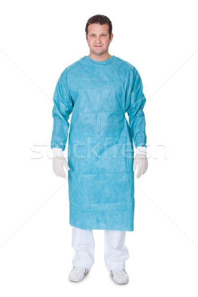 Retrato cirujano aislado blanco sonrisa médico Foto stock © AndreyPopov