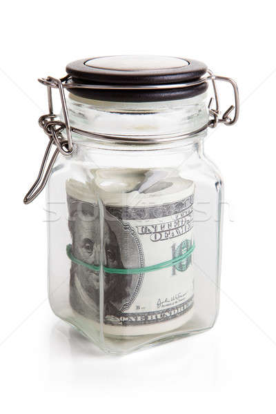 Us Dollar Notes Stored In Jar Stock photo © AndreyPopov
