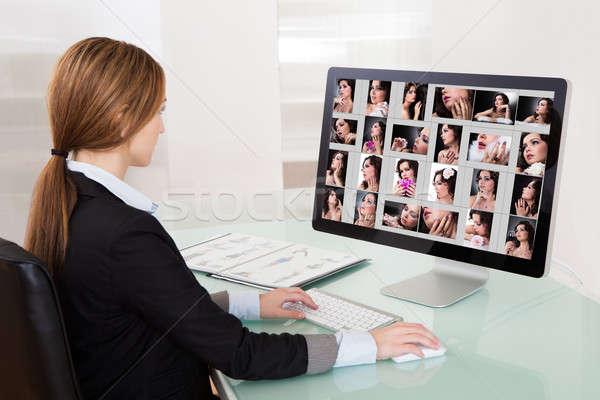 Designer Woman Working On Computer Stock photo © AndreyPopov