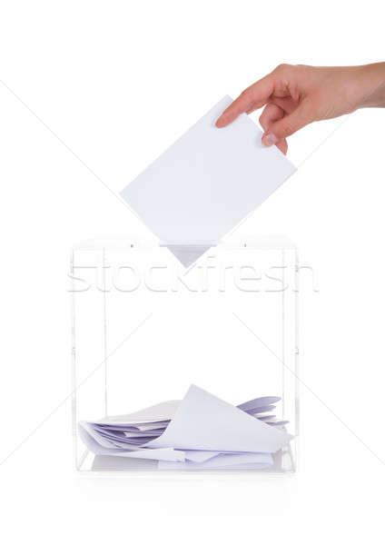 El oylama kutu beyaz stüdyo Stok fotoğraf © AndreyPopov