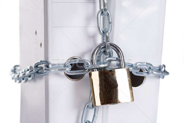 Private data secured with lock Stock photo © AndreyPopov