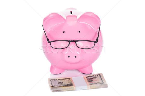 Piggybank With Dollar Bundle Stock photo © AndreyPopov