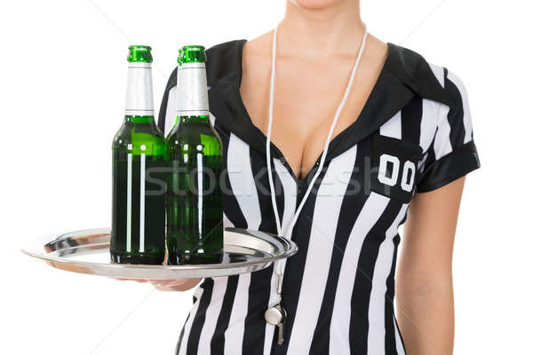Close-up Of Referee Holding Drinks Stock photo © AndreyPopov