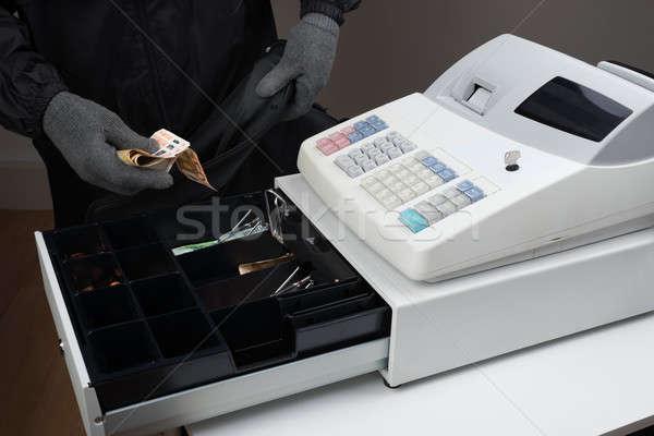 Burglar Stealing Money Stock photo © AndreyPopov