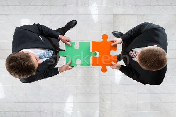 ビジネスマン ジグソーパズル チームワーク 直接に ショット ストックフォト © AndreyPopov