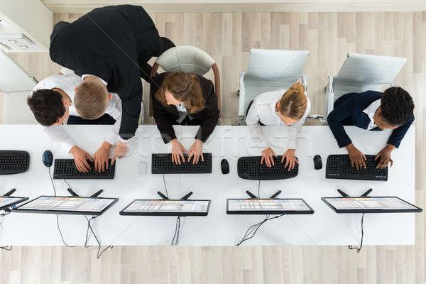工作的 辦公室 視圖 一起 商業照片 © AndreyPopov